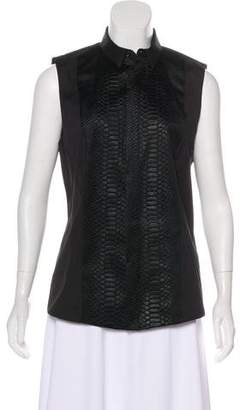 Barbara Bui Sleeveless Button-Up Top