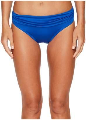Jantzen Solid Shirred Waist Bottom Women's Swimwear