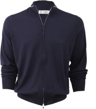 Brunello Cucinelli Bi-Color Zip Cardigan