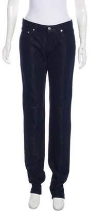 Dries Van Noten Mid-Rise Metallic Jeans blue Mid-Rise Metallic Jeans
