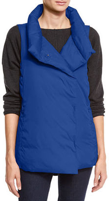 Eileen Fisher Weather-Resistant Down Puffer Vest, Petite $278 thestylecure.com