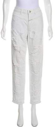 Closed Straight Leg Distressed Jeans