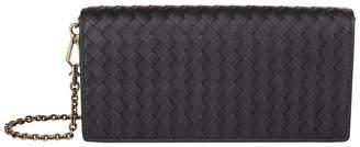 Bottega Veneta Leather Intrecciato Chain Wallet
