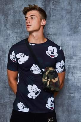 Disney All Over Mickey Print T-Shirt