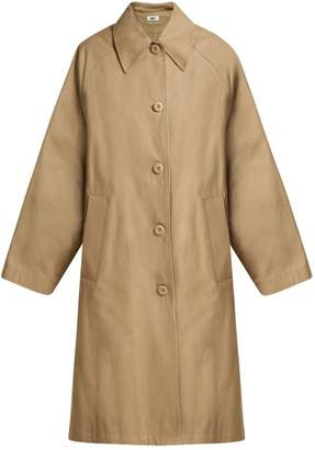 MM6 MAISON MARGIELA Oversized A Line Cotton Coat - Womens - Beige