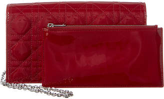 Christian Dior Lady Cannage Patent Clutch