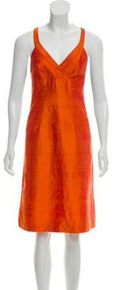 Trina Turk Silk Surplice Dress