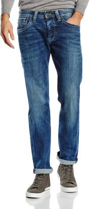 Pepe Jeans Mens Cash Straight Jeans, 2 Lengths Blue Size 31 Length 32 (Us)