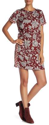 Scotch & Soda Printed Short Sleeve Dress with Necklace