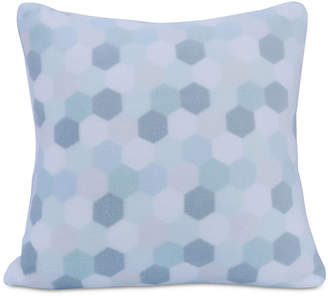 "Berkshire Tonal Honeycomb-Print 18"" Square Plush Decorative Pillow"