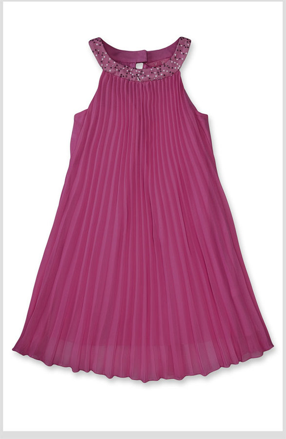 Hype Pleated Chiffon Trapeze Dress (Big Girls)