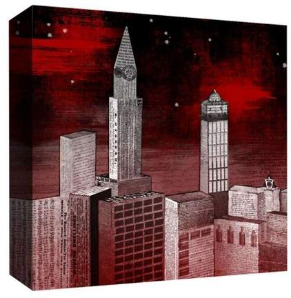 Red Night Decorative Canvas Wall Art 16