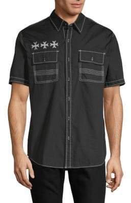 Affliction Ruminate Cotton Button-Down Shirt