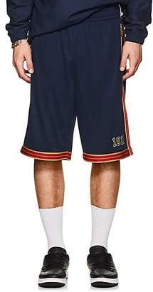 Fila Men's Metallic-Striped Logo Mesh Shorts - Navy Size M