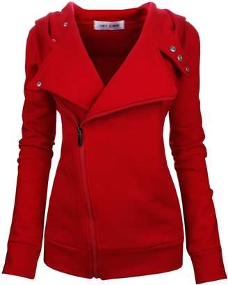 Toms Tom's Ware Women Slim fit Zip-up Hoodie Jacket TWHD1003-XL(US LARGE)