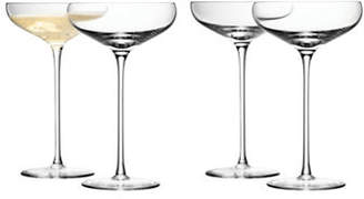LSA International Set of Four Wine Champagne Saucers