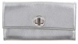 Tiffany & Co. Metallic Leather Wallet