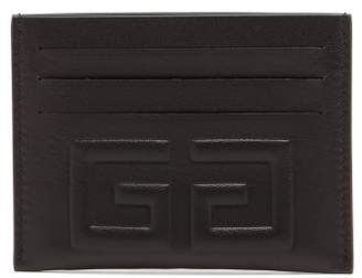 Givenchy Logo Embossed Leather Cardholder - Mens - Black Khaki