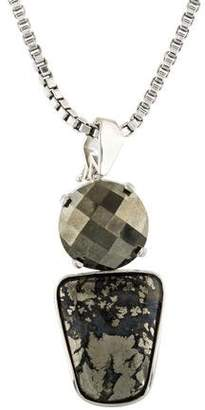 Stephen Dweck Pyrite Pendant Necklace