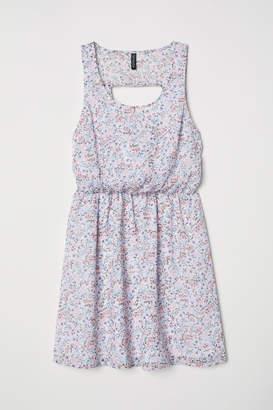 H&M Short Chiffon Dress - White