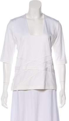 Akris Square Neck Short Sleeve Top