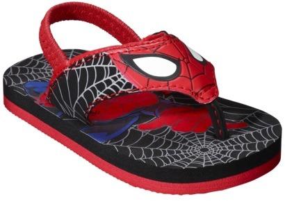 Flip Toddler Boy's Marvel Spiderman Flop - Black