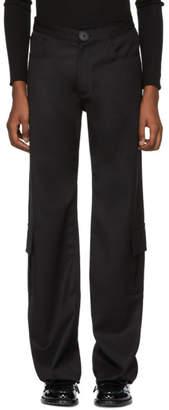 Wales Bonner Black Wool Cargo Pants