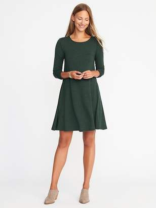 Textured-Knit Swing Dress for Women $32.99 thestylecure.com