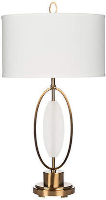 Barclay Butera for Bradburn Home Delasol Alabaster Table Lamp - White/Gold
