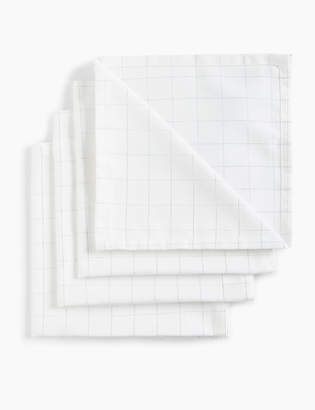 Marks and Spencer Set of 4 Checked Napkins