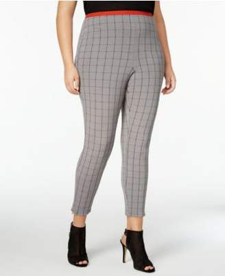 Hue Women's Plus Size Windowpane Loafer Skimmer Leggings