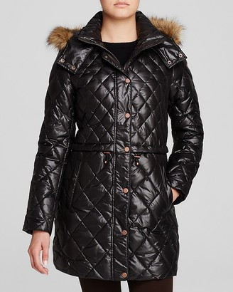 Marc New York Kava Faux Fur Trim Quilted Puffer Coat $248 thestylecure.com
