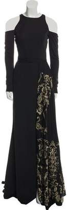 Terani Couture Embroidered Evening Dress w/ Tags