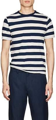 Officine Generale Men's Striped Cotton-Linen T-Shirt