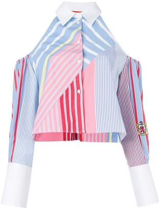 Tommy Hilfiger Cold shoulder striped shirt
