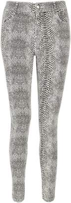 Dorothy Perkins Womens Snake Print ''Frankie' Super Skinny Jeans
