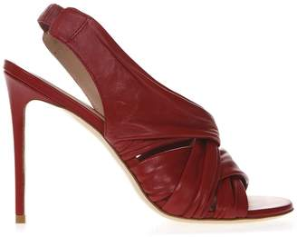 461648dba1c Aldo Castagna Red Nappa Leather Sandals