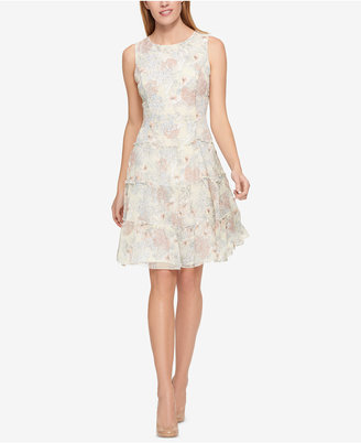 Tommy Hilfiger Textured Ruffle-Detail Dress, Created for Macy's $129.50 thestylecure.com