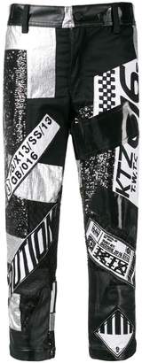 Kokon To Zai multi fabric patchwork trousers