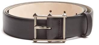Valentino Studded buckle leather belt
