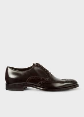 Paul Smith Men's Dark Brown Calf Leather 'Clifton' Brogues
