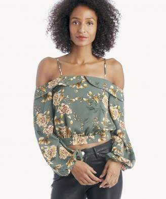 Sole Society Cold Shoulder Puff Sleeve Top