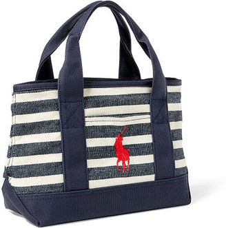 Ralph Lauren Canvas Small School Tote $45 thestylecure.com