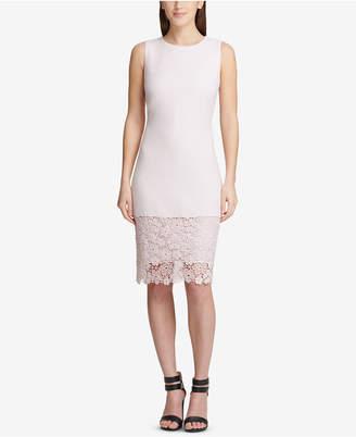 DKNY Lace-Hem Sheath Dress, Created for Macy's