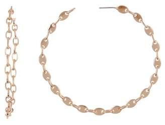 BaubleBar Savra Link 65mm Hoop Earrings
