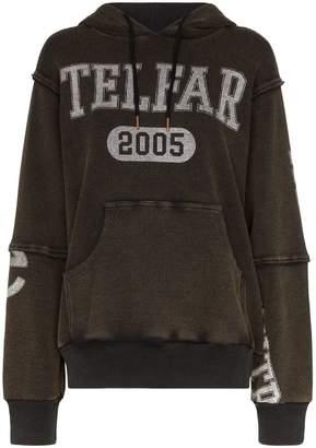 Telfar oversized logo print hoodie