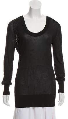 Faith Connexion Glitter-Accented Scoop Neck Sweater