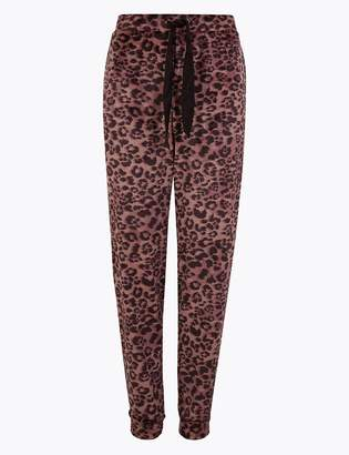 Marks and Spencer Fleece Animal Print Pyjama Bottoms