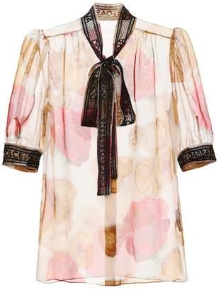Dolce & Gabbana Printed silk-blend blouse