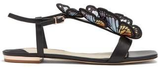 Sophia Webster Riva Butterfly Embellished Leather Sandals - Womens - Black Multi